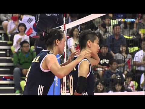 2014 InCheon AsianGames Women's Vollyball 20141002 [Korea vs China] Final [KBSn]