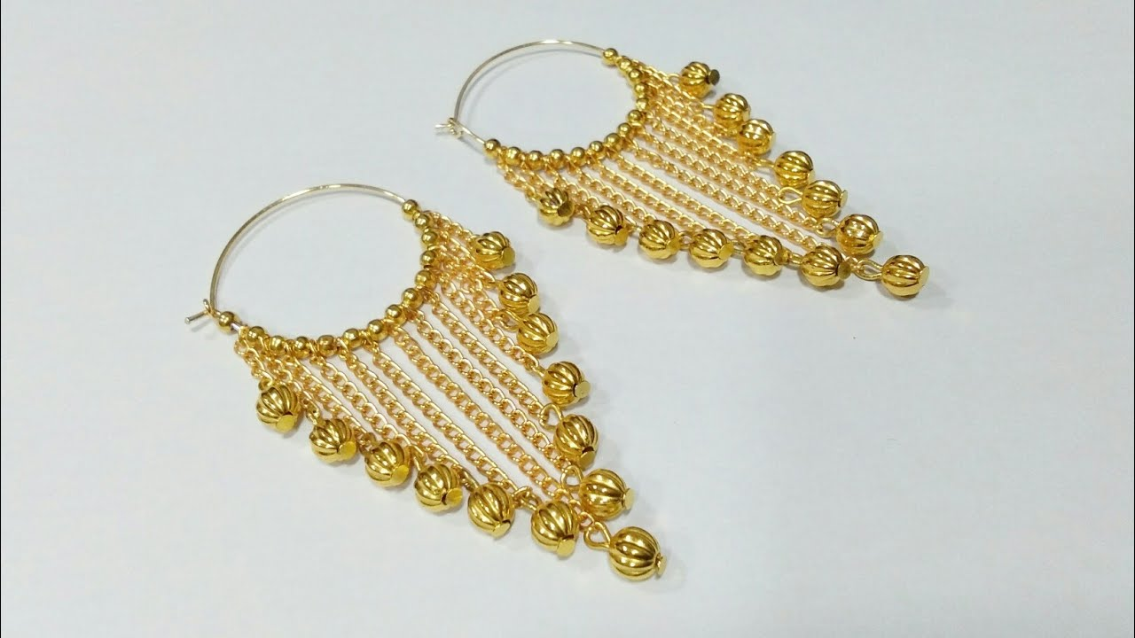 Simple And Easy Earrings In 5 Minutes How To Make Designer
