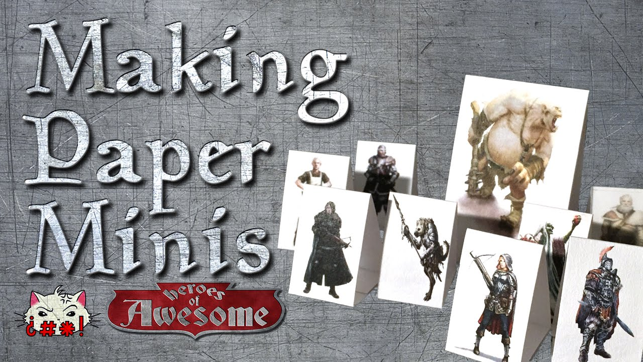 photograph relating to Printable Paper Miniatures called How toward create paper Dungeons and Dragons minis