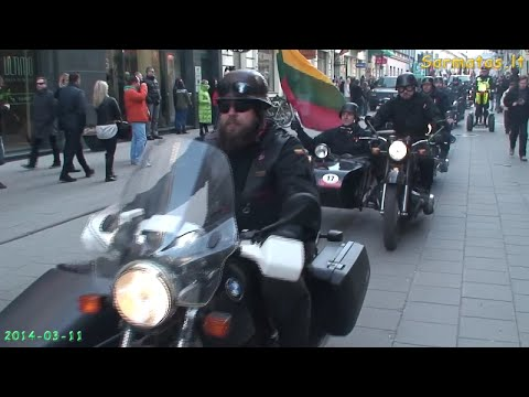 (Sarmatas.lt) Kovo 11 šventės proga, nacionalistų organizuotos eitynės Vilniuje [2014-03-11]