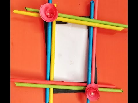 Make Awesome Photo Frame Out Of Paper Sticks | Diy-Paper-Crafts  by craft studio