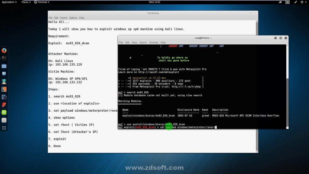 Metasploit Tutorial   Windows Cracking   Exploit -ms03 026 dcom