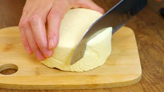 Самый простой рецепт домашнего сыра за 10 мин