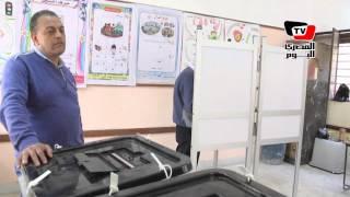متابعة سير العملية الانتخابية في لجان مدرسة العقاد بالمطرية