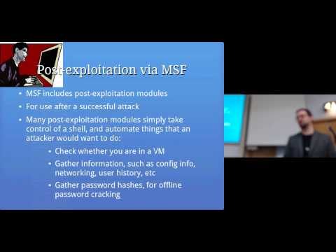 Post-exploitation: Computer Security Lectures 2014/15 S2
