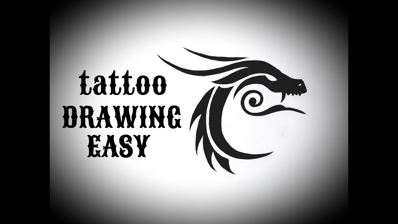 How To Draw A Tribal Dragon Tattoo Easy Drawing Tribal Tattoos Designs Simple Easy For Beginners
