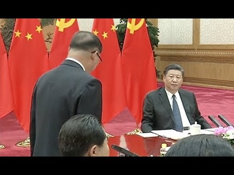 Chinese President Meets DPRK's WPK Visiting Group