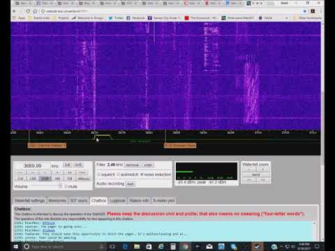Hams, Fax Machines, and Chinese Radio Stations -- Exploring WebSDR