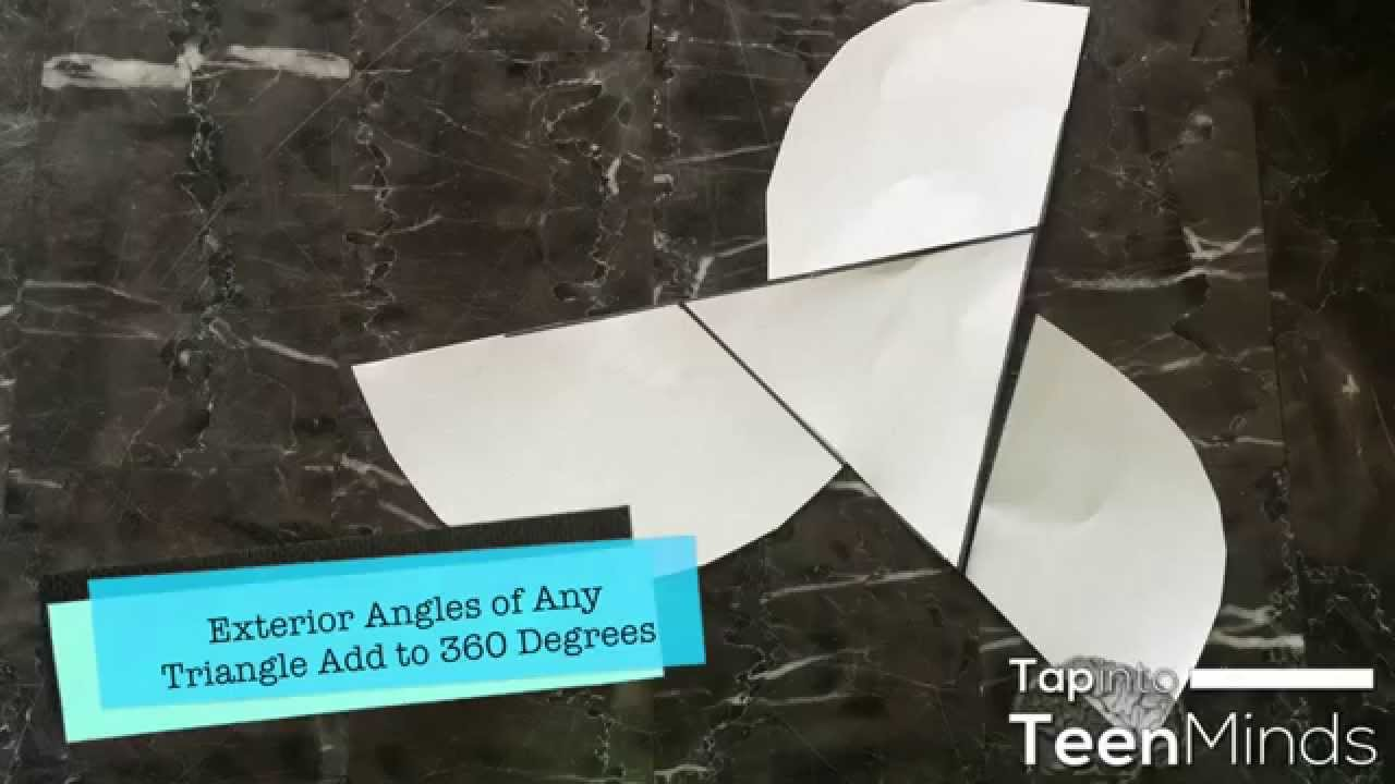 Sum of the exterior angles of a triangle proof paper - Sum of the exterior angles of a triangle ...