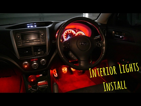 Subaru WRX Interior LED Lights Install
