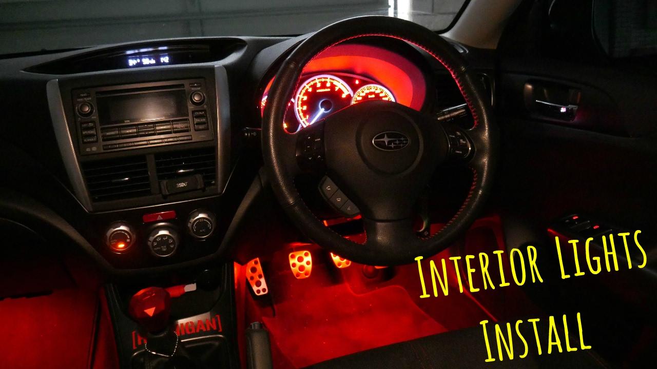 medium resolution of subaru wrx interior led lights install