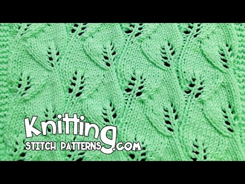 Overlapping Leaves Lace Knitting Stitch 12 Youtube