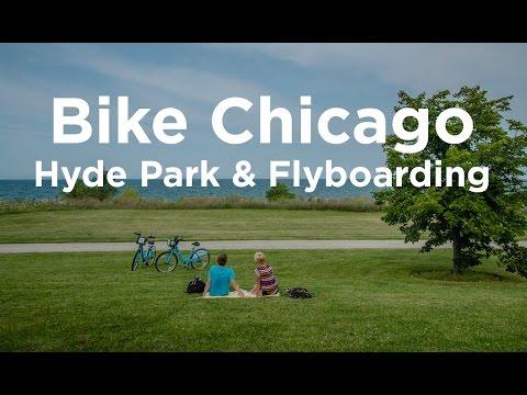 Bike Chicago 01 - Hyde Park & Lake Michigan Flyboarding