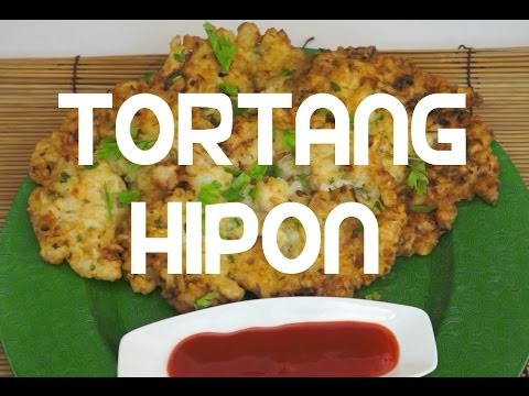 Paano magluto Tortang Hipon Recipe Pinoy Cooking Shrimp Omelette - Tagalog English Filipino