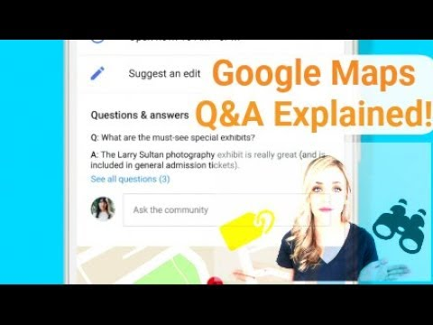 Google Maps Q&A Explained! - YouTube on