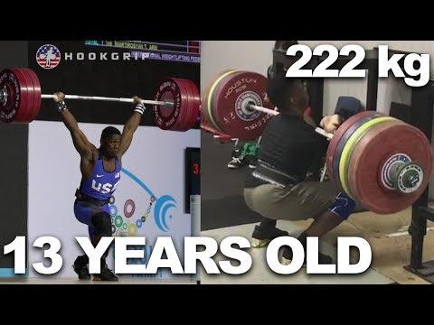 CJ Cummings - Weightlifting training progress 13 - 16