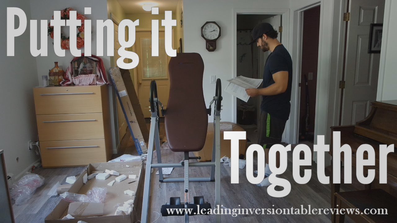 putting together the exerpeutic inversion table youtube rh youtube com