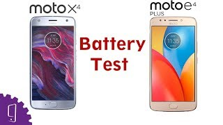 Moto E4 Plus and Moto X4  Battery Comparison | Charging Test | Battery Drain Test