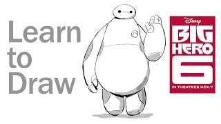 Learn to Draw Baymax from Big Hero 6 | Disney Insider