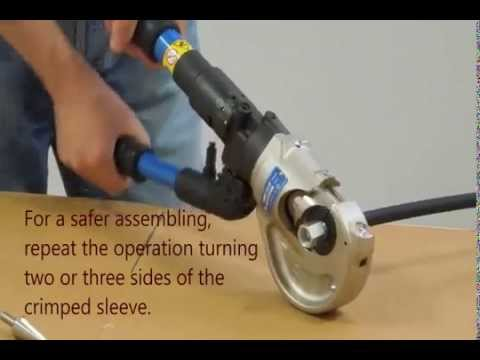 Assemblying With Manual Crimping Machine Youtube