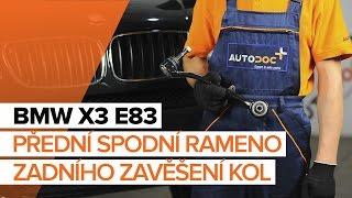 Jak vyměnit přední spodní rameno zadního zavěšení kol na BMW X3 E83 [NÁVOD]