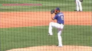 Yu Darvish Slow Motion Baseball Pitching Mechanics - Texas Rangers Pitcher Tips Drills MLB