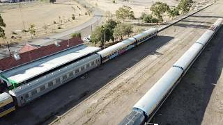 Travelling by Patagonic Train to Bariloche from Viedma City (shots from drone)