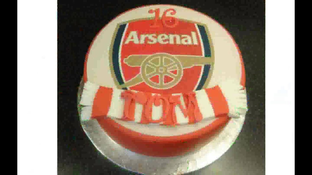 Football Cake Decorating Ideas How To Make : Arsenal Cake Decorations - YouTube