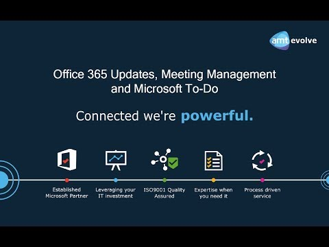 Office 365 Updates, Meeting Management and Microsoft To-Do | Webinar