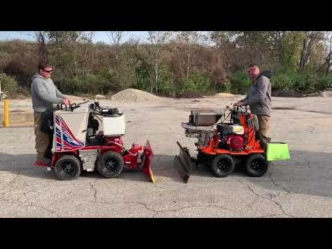 Z Plow Vs Snowrator Vs Ventrac Ssv! Commercial Sidewalk Snow Removal Equipment Head To Head!