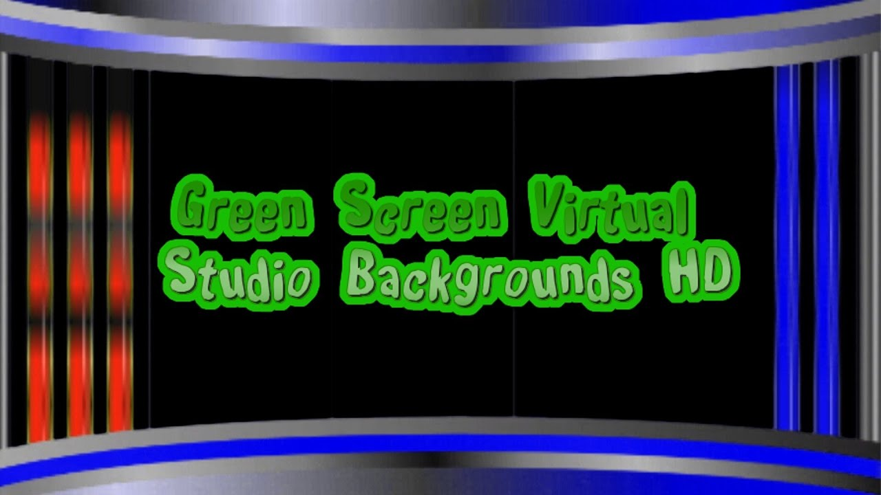Green screen virtual studio backgrounds template hd youtube for Green screen backgrounds free templates