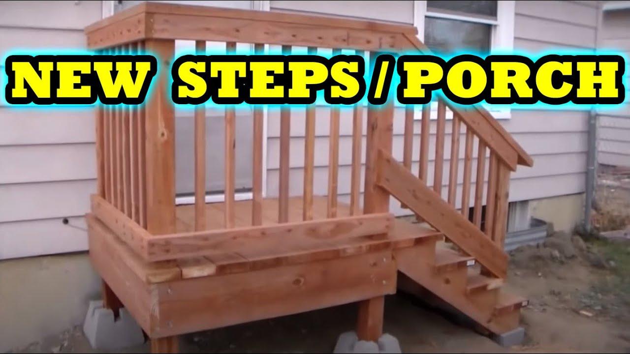 how to build freestanding porch steps deck home depot diy