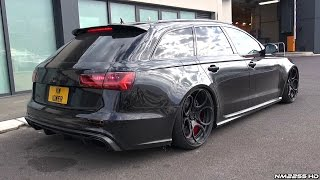 Slammed Audi RS6 C7 with LOUD Milltek Exhaust - Revs & Accelerations in Monaco!
