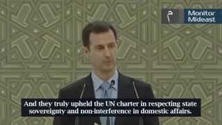 Syria President Al-Assad Thanks Hezbollah, Iran, China and Russia (English Subtitles)