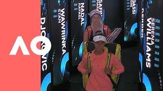 Clara Tauson v Leylah Annie Fernandez on-court warm up (F) | Australian Open 2019