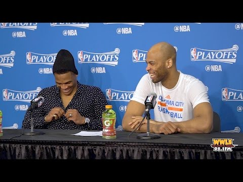 Russell Westbrook & Taj Gibson Discuss Game 3 Win Over Rockets