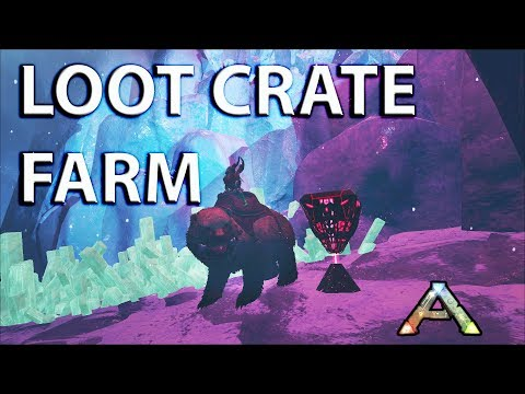 How to Loot Crate Farm with Dire Bear: Ep 4 PVP Ark Survival Bear Ice Cave