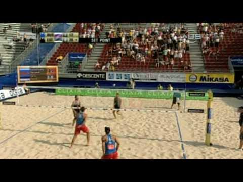 Estonia upsets Russia on beach from Universal Sports