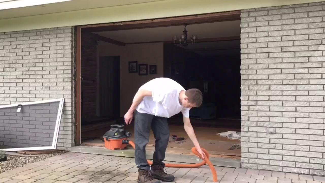 3 Panel Sliding Patio Door Installation Youtube
