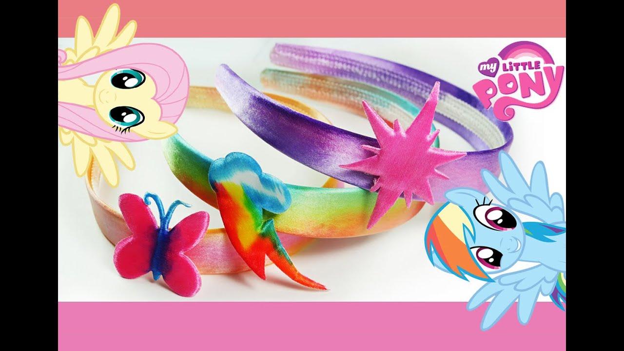 My Little Pony Rainbow Splash Headband Kit MLP - YouTube 92339bcf718