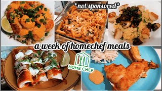 A FULL WEEK OF HOME CHEF MEALS *not sponsored* || Honest Review of Home Chef
