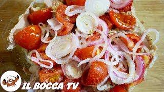 610 - Insalata livornese..troppo bene mi ci prese! (insalata con tonno, fagioli, pomodori e cipolla)