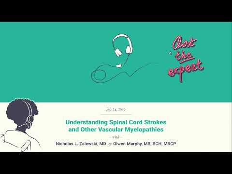 Understanding Spinal Cord Strokes And Other Vascular Myelopathies