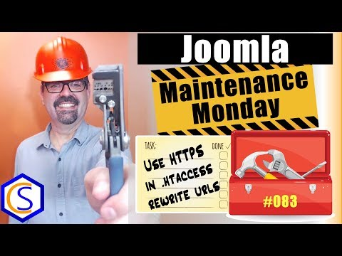 Use HTTPS In The Rewrite Rules In Your Joomla .htaccess File 🛠 Maintenance Monday Live Stream #083