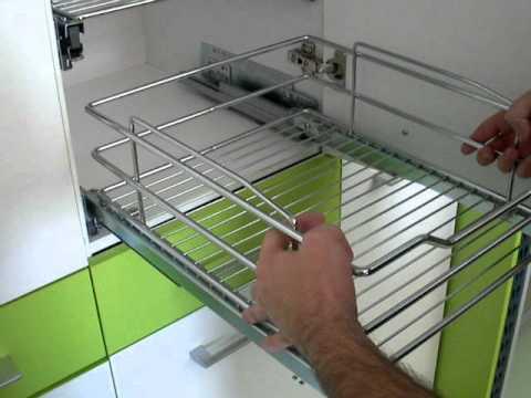 Montaje de herraje verdulero  Herrajes cocina  www