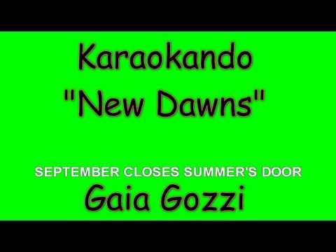 Karaoke internazionale - New Dawns - Gaia Gozzi ( Lyrics )