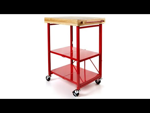 Amazon.com: Origami Folding Kitchen Cart on Wheels | for Chefs ... | 360x480
