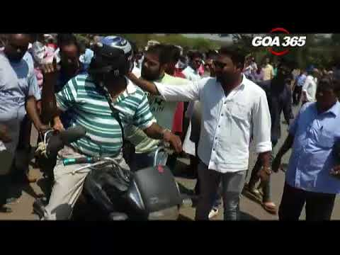 Panaji blocked, commuters harassed, XII Std students affected
