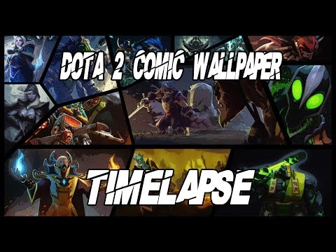 Dota 2 Comicstyle Wallpaper  1920x1080 | Photoshop Timelapse | ScrollerPlays