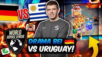 DEUTSCHLAND vs. URUGUAY - DRAMA im 1. WRL SPIEL! 😨 | Neuer World Cup! | Clash Royale Deutsch